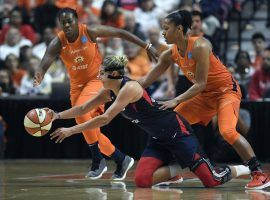 Elena Della Donne wasn't 100 percent, but provided an emotional spark for the Washington Mystics in their win over Connecticut in Game 3 of the WNBA Finals. (Image: Jessica Hill/AP)