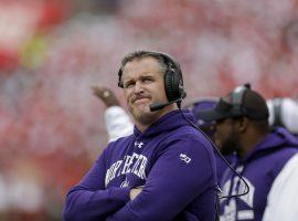 Northwestern head coach Pat Fitzgerald on the sidelines against Wisconsin. (Image: Porter Lambert/Getty)