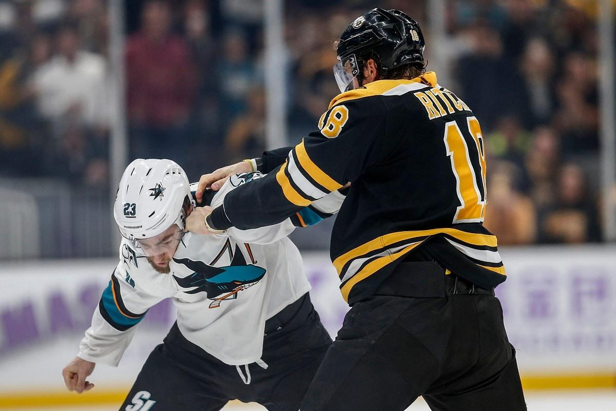 Hockey fights Ritche Goodrow Haley Maroon
