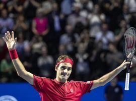 Roger Federer won the Swiss Indoors in Basel, Switzerland for the 10th time in his career on Sunday. (Image: Alexandra Wey/Keystone/AP)