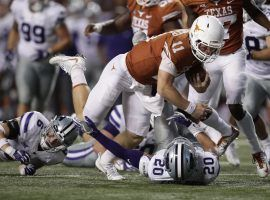Texas QB Sam Ehlinger has bowled over opponents so far in 2019, but can he do the same in the Red River Rivalry this week? (Image: NCAA)