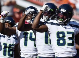 The Seattle Seahawks celebrate a Jaron Brown touchdown paying homage to NSNYC during a game against the Cleveland Browns. (Image: Ken Blaze/USA Today Sports)
