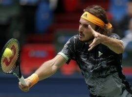 Stefanos Tsitsipas earned his place in the ATP Finals London by reaching the semifinals at the Shanghai Masters last week. (Image: Andy Wong/AP)