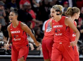 The Washington Mystics won their first title on Thursday night after defeating the Connecticut Sun in Game 5 of the WNBA Finals. (Image: Ethan Miller/Getty)
