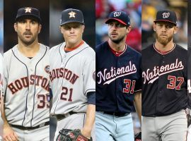 The 2019 World Series features several of the top starting pitchers in baseball (Gerrit Cole, Justin Verlander, Zack Greinke, Max Scherzer, Stephen Strasburg, and Patrick Corbin). (Image: Wall Street Journal)