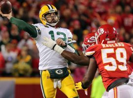 Green Bay quarterback Aaron Rodgers led the Packers to a victory over the Kansas City Chiefs on Sunday night. (Image: USA Today Sports)
