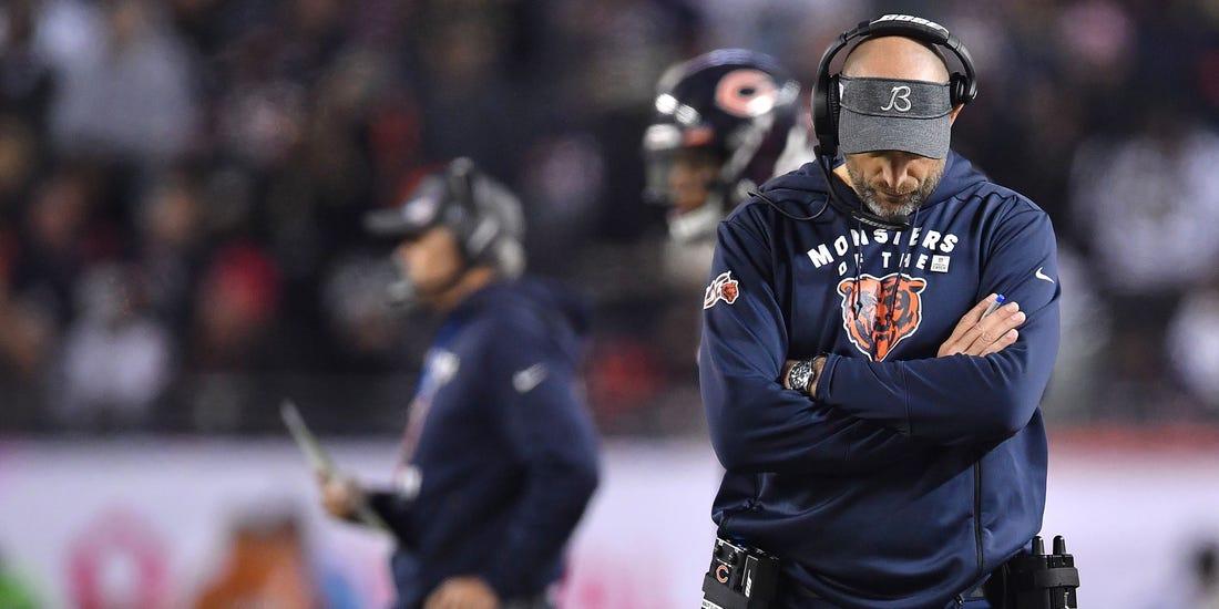 Chicago Bears coach Matt Nagy