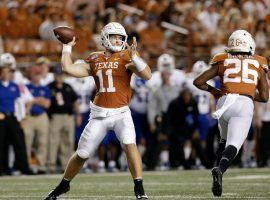 The Oklahoma-Texas game could be decided by Longhorn quarterback Sam Ehlinger with his ability to scramble out of the pocket. (Image: Getty)