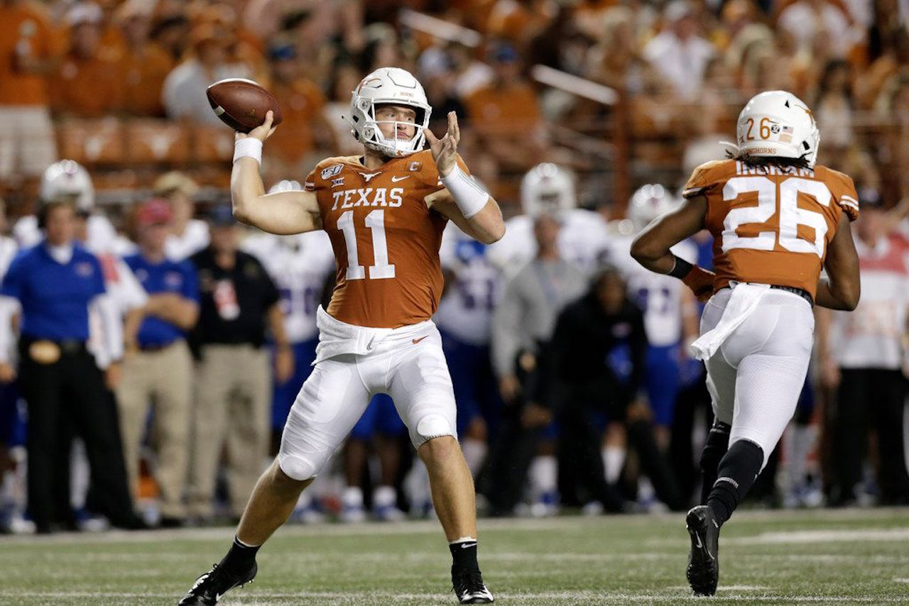 Texas quarterback Sam Ehlinger