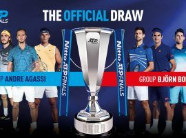 The Nitto ATP Finals draw was set on Tuesday, with Novak Djokovic and Roger Federer both drawn into Group Bjorn Borg. (Image: ATP Tour)