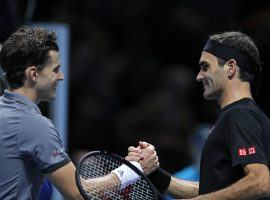 Dominic Thiem upset Roger Federer on the first day of the Nitto ATP Finals in London. (Image: AFP)