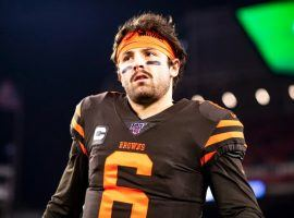 Betting on Baker Mayfield and the Cleveland Browns may seem odd to many, but as 10.5-point favorites this weekend against the Dolphins, historically this game is theirs to cover. (Image: Matt Starkey/Cleveland Browns)