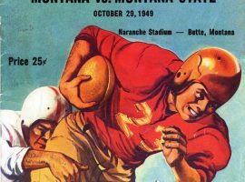 Program from the Montana vs. Montana State annual Brawl of the Wild game in 1949. (Image: Montana State Athletics)