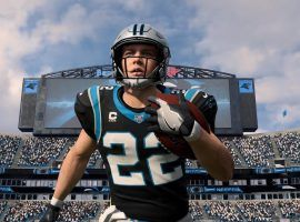 Christian McCaffrey, RB from the Carolina Panthers, on Madden 20 football video game by EA Sports. (Image: EA Sports)