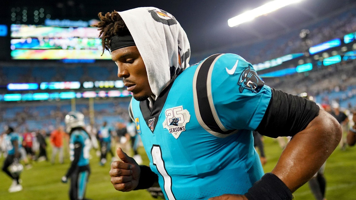 Cam Newton QB Carolina Panthers Out Foot Injury Season Last Game in Carolina?