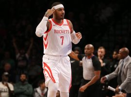 Carmelo Anthony with the Houston Rockets in November 2018. (Image: Brad Penner/USA Today Sports)