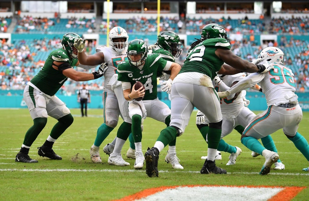 New York Jets lose to Miami Dolphins Sam Darnold Fire Adam Gase