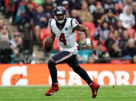Houston Texans quarterback DeShaun Watson in action against the Jacksonville Jaguars in London, England. (Image: Getty)