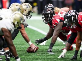 New Orleans Saints and Atlanta Falcons during a 2018 game at Mercedes-Benz Stadium in Atlanta, GA. (Image: Getty)