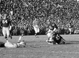 Yale and Harvard met in the greatest game in Ivy League history at Harvard Stadium in Boston, MA on November 23, 1968. (Image: AP)