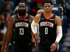 The Houston Rockets are off a to an 11-3 start thanks to the James Harden and Russell Westbrook reunion. (Image: Sean Gardner/Getty)