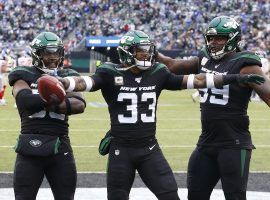 NY Jets safety Jamal Adams celebrates a touchdown against the NY Giants at MetLife Stadium in E. Rutherford, NJ. (Image: Noah K. Murray/USA Today Sports)