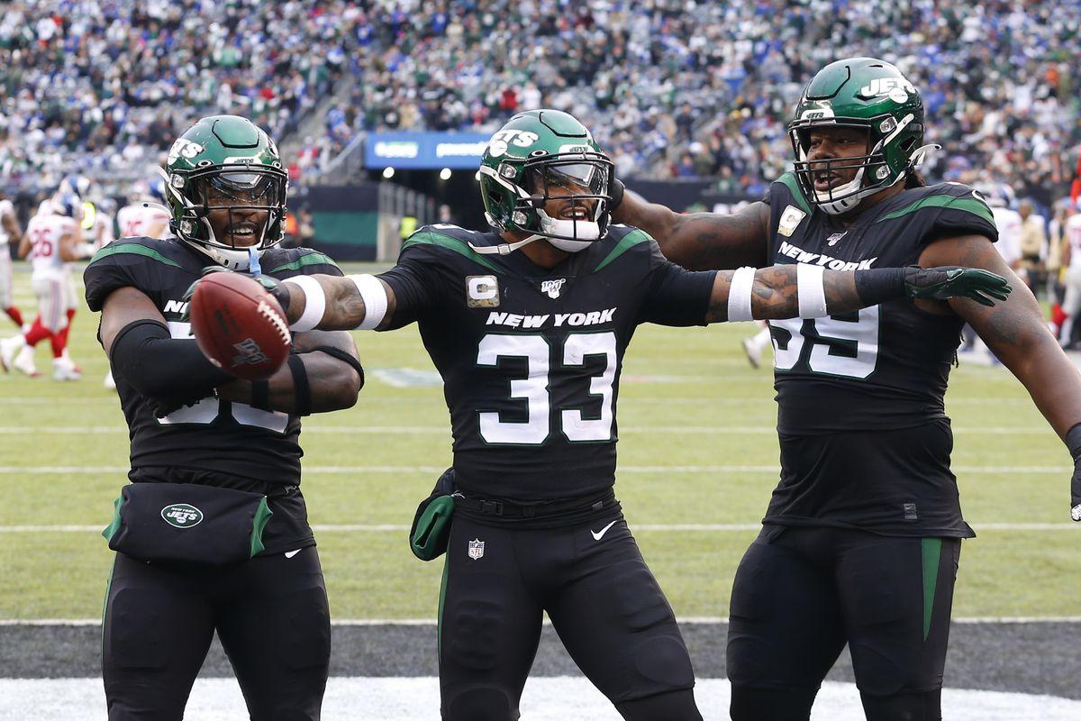 LOLJets Jets Giants Jamal Adams celebrates touchdown