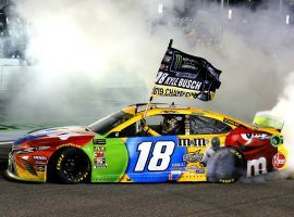 Kyle Busch won the Ford EcoBoost 400 at Homestead-Miami Speedway to earn his second career NASCAR Cup Series championship. (Image: Russell LaBounty/LAT Images)