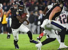 Baltimore Ravens QB Lamar Jackson scrambles for a touchdown in a victory over the New England Patriots. (Image: Will Newton/Getty)