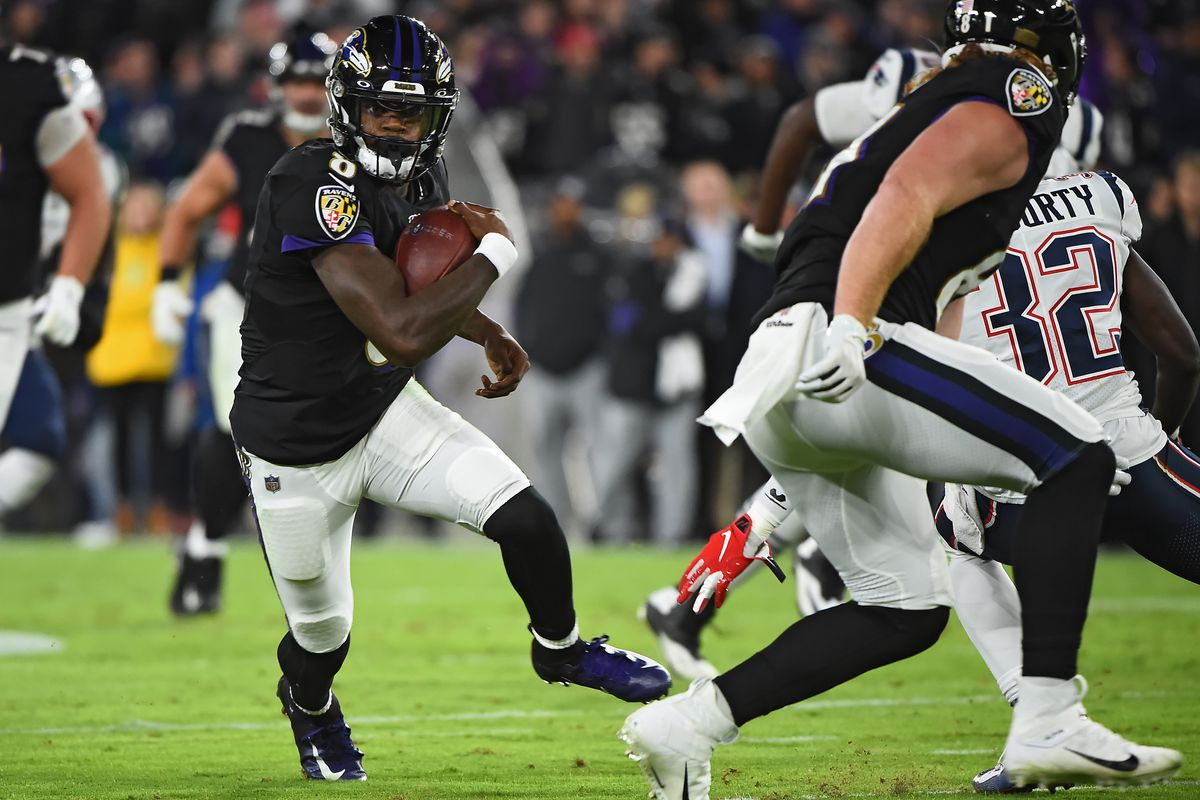 Lamar Jackson Baltimore Ravens beat the undefeated New England Patriots