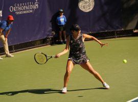Japan's Mayo Hibi defeated frequent playing partner, Alexa Glatch in the quarterfinals, and will face No. 3 Katarina Zavatska from the Ukraine in the semifinals of the ITF's Henderson Tennis Open. (Image: Cashman Photo)