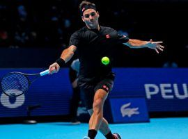 Roger Federer will take on Matteo Berrettini in a critical match that will all but eliminate the loser at the ATP Finals in London. (Image: Adrian Dennis/AFP/Getty)