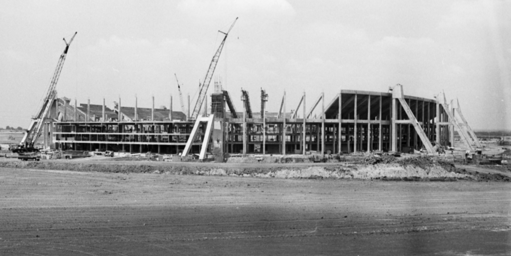 Texas Stadium under construction