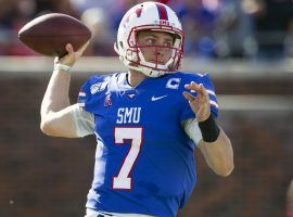 SMU quarterback Shane Buechele has put up big numbers in recent weeks and looks to continue that trend against East Carolina this Saturday. (Image: Philadelphia Inquirer)