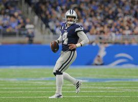 Cowboys quarterback Dak Prescott will lead the No. 1 offense in the NFL against the No. 1 defense in the Dallas-New England game on Sunday. (Image: Getty)