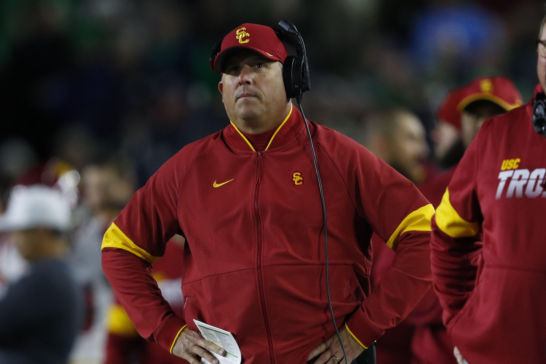 USC coach Clay Helton