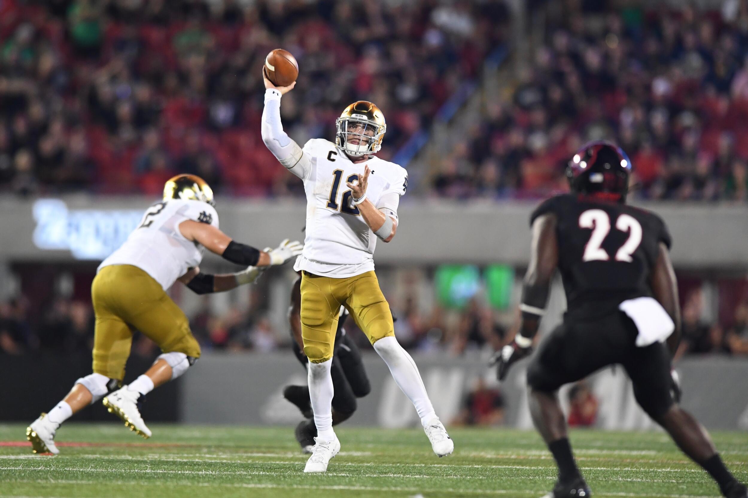 Notre Dame quarterback Ian Book