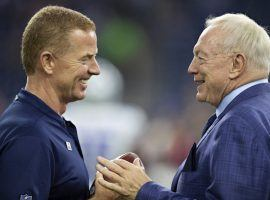 Dallas owner Jerry Jones, right, has voice his displeasure with the Cowboys season, and coach Jason Garrett could be fired at the end of the season. (Image: Getty)