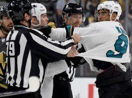 San Jose Sharks winger Evander Kane is facing a lawsuit by the Cosmopolitan of Las Vegas for an unpaid gambling debt. (Image: Getty)