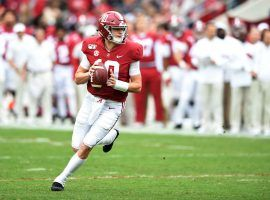 Alabama quarterback Mac Jones helped the Crimson Tide score more than 50 points against Western Carolina, but will be tested next week against Auburn. (Image: USA Today Sports)