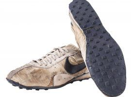 """This bid for this pair of 1972 Nike """"Moon Shoes is already $110,000 (Image: Goldin Auctions)"""