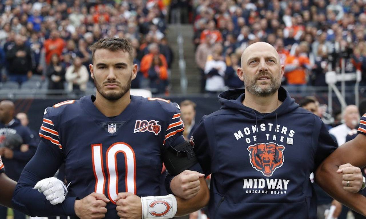 Matt Nagy and Mitchell Trubisky