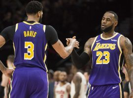 Anthony Davis and LeBron James lead the LA Lakers to the best road record in the NBA. (Image: Troy Wayrynen/USA Today Sports)