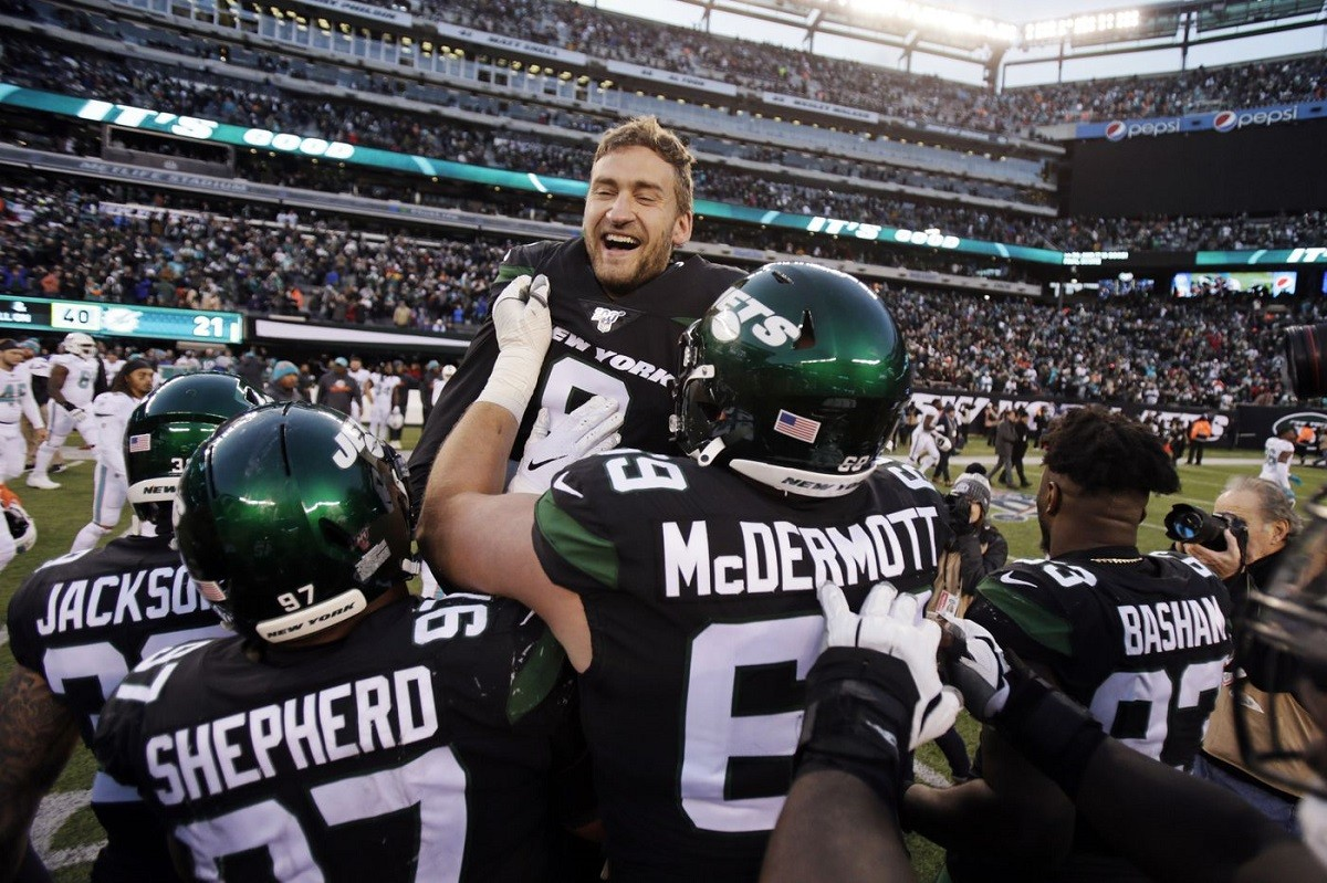 NY Jets LOLJets 10 FG foeld goal revenge Miami Dolphins Sam Ficken