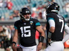 Jacksonville Jaguars backup QB Gardner Minshew (15) with ex-starter Nick Foles. (Image: Marco Esquondoles/USA Today Sports)