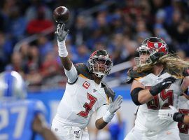 Tampa Bay Bucs QB, Jameis Winston, passes against the Detroit Lions. (Image: Getty)