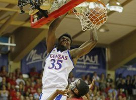 Kansas center Udoka Azubuike dunks during an overtime victory over Dayton in the Maui Invitational in Hawaii. (Image: Marco Garcia/AP)