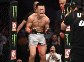 Chan Sung Jung – better known as The Korean Zombie – will take on Frankie Edgar in the main event of UFC Fight Night 165. (Image: Josh Hedges/Zuffa/Getty)