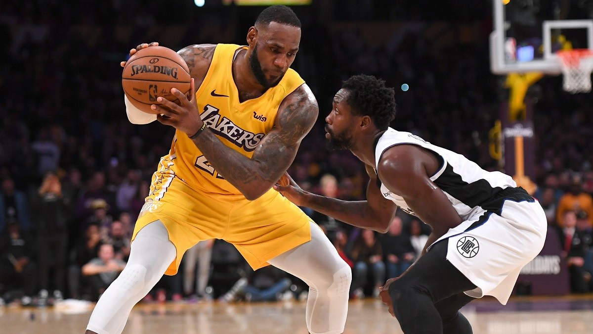 LeBron James LA Lakers Clippers groin injury pulled