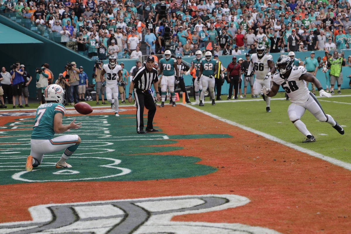 NFL Week 13 Miami Dolphins sick trick play fake field goal ravens win super bowl preview niners